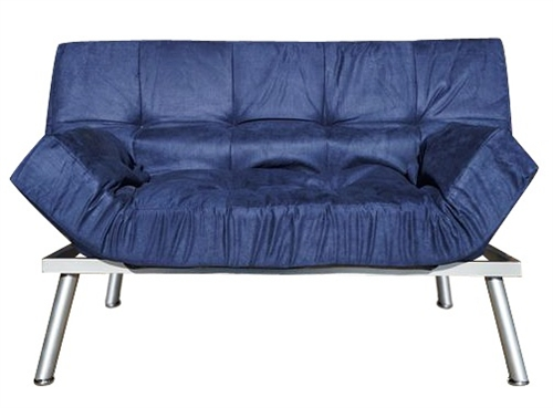The College Cozy Sofa Mini Futon Navy Dorm Furniture