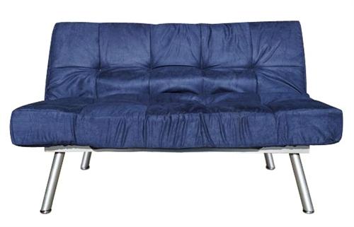 The College Cozy Sofa Mini Futon Navy Dorm Furniture