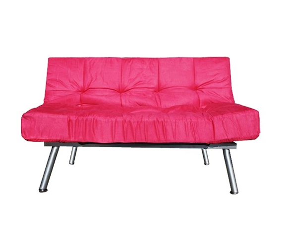 The College Cozy Sofa Mini-Futon Pink Dorm Furniture Cheap