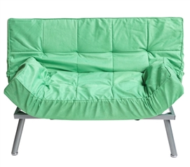 The College Cozy Sofa Mini-Futon Spring Green Dorm Furniture - Add More Seating