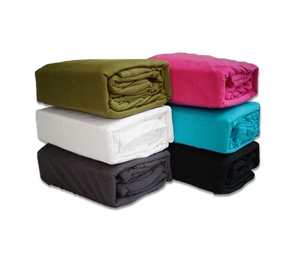 College Ave Jersey Knit Twin XL College Bedding Sheets (Available in 6 Colors) - Complete Your Dorm Bedding