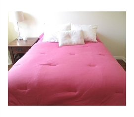 Jersey Knit Twin XL College Comforter (100% Cotton) - Pink