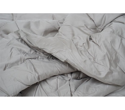 300TC Cotton Twin XL Comforter - College Ave - Aluminum Extra Long Twin College Comforter College Room Bedding