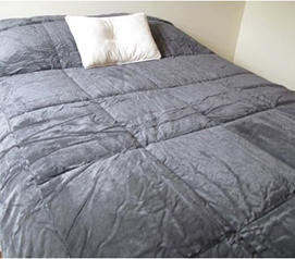 College Plush Comforter - Charcoal - Twin XL - Super Soft Dorm Bedding