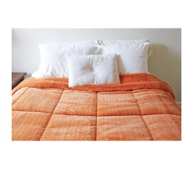 College Plush Comforter - Orange Ochre - Twin XL Dorm Bedding Perfection