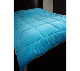 Comfortable College Plush Dorm Room Comforter - Aqua - Twin Bedding Super Soft!