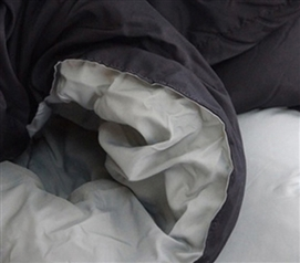 Sized for XL Twin Beds - Black Gray Reversible Comforter - Two Colors To Choose From