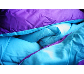 Fun Dorm Item - Aqua/Downtown Purple Reversible College Comforter - Twin XL - Choose From Two Colors