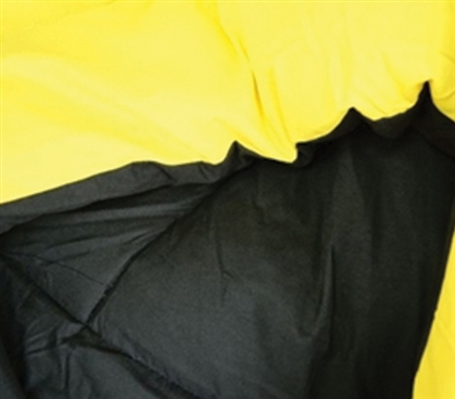 Choose Your Color - Black/Yellow Reversible College Comforter - Twin XL - College Essentials