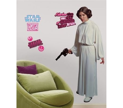 Peel N Stick - Star Wars Princess Leia Giant Decal