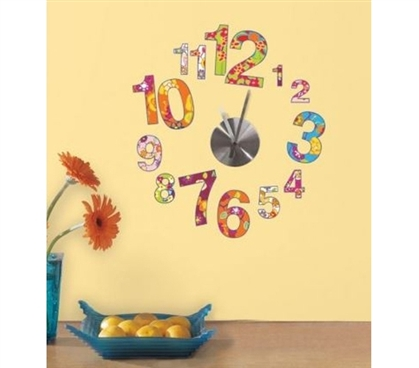 Peel N Stick - Colorful Clock Decals