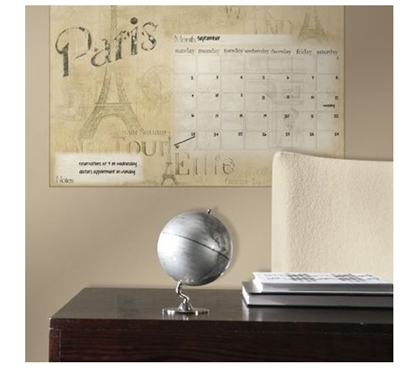 Reusable - Peel N Stick - Paris Dry Erase Calendar Giant Decal - Decorations For Dorms