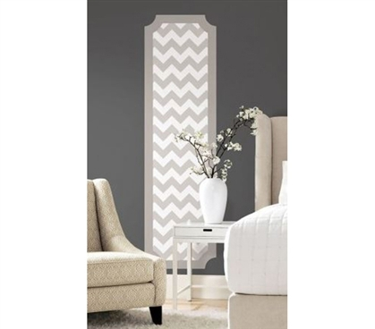 Peel N Stick - Gray And White Chevron Panel Decal