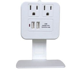Dual USB And Outlet Charger