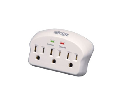 Surge Protector Wall Tap - 3 Outlets