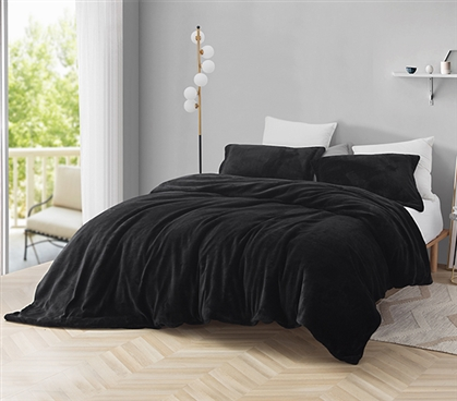 Coma Inducer Twin XL Duvet Cover - Plush - Black