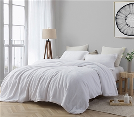 Coma Inducer Twin XL Duvet Cover - Plush - White