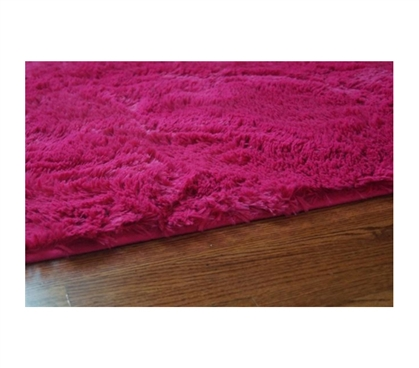 College Plush Rug - Knockout Pink College Rug Dorm Room Decor