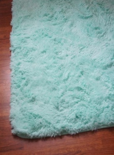 College Plush Rug Calm Mint