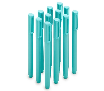 Ballpoint Pens - Set of 12 - Aqua (Blue Ink) Dorm Essentials Dorm Necessities Dorm Supplies