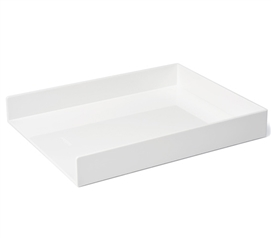 Single Letter Tray - White