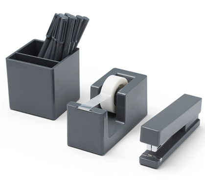 Starter Dorm Desk Bundle - Dark Gray