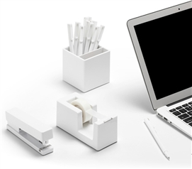 Starter Dorm Desk Bundle - White