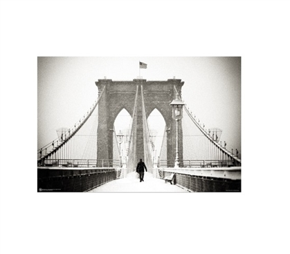 Brooklyn Bridge Winter College Poster Dorm Room Decorations College Wall Decor