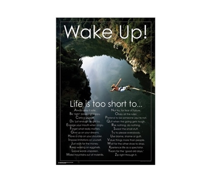 Wake Up!! College Poster Wall Decorations for Dorms College Supplies College Wall Decor