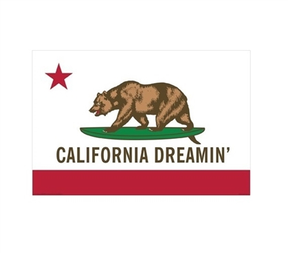 California Dreamin Poster for Dorm Rooms College Supplies College Wall Decor