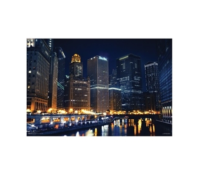 Chicago Nights Poster for Dorm Rooms Dorm Room Decorations