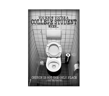 College Student Prayed Dorm Room Poster Dorm Room Decorations Dorm Room Decor