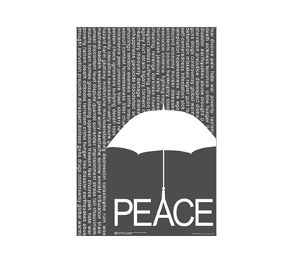 Peace Umbrella Cool Posters for Dorm Rooms Wall Decorations for Dorms College Wall Decor