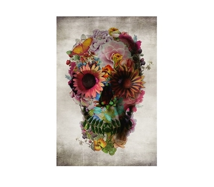 Flower Skull Poster - Highlight Life and Death at Cheap College Prices