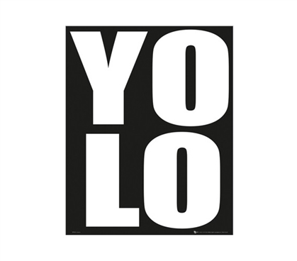 Shop For College - YOLO Poster - Best Stuff For College