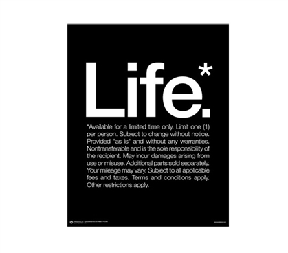 Dorm Items - Life Poster - Shopping For College