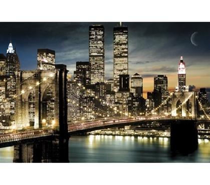 College Decorations Are Cheap - Manhattan Lights at Night - Add Decor To Dorms