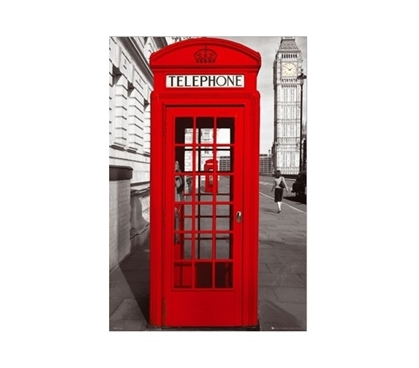 London Telephone Booth Poster - Dorm Decorations that are sure to wow!