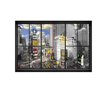New York Window Poster Dorm Room Decorations