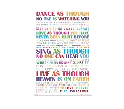 Dance College Poster Dorm Room Decorations College Wall Decor Wall Decorations for Dorms