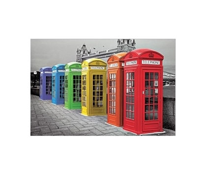 London Phoneboxes Color College Poster Wall Decorations for Dorms College Wall Decor Must Have Dorm Items