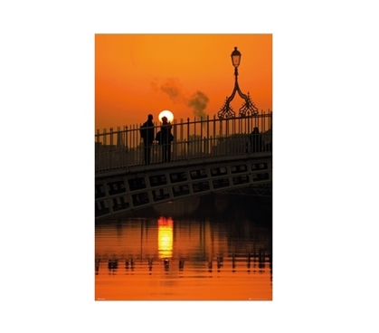 Dublin Halfpenny Bridge Portrait Dorm Room Poster Dorm Room Decorations Dorm Wall Art Must Have Dorm Items