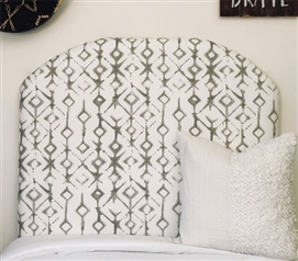 Decorative College Bedding for Twin XL Bed Unique Grey Tribal Stylish Dorm Room Headboard