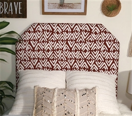 One-of-a-Kind Dorm Room Decor for Twin XL Sized Bed Stylish Red Fearless Design College Headboard