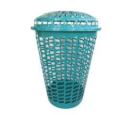 Holds Your Dirty Clothes - Tall Round Laundry Hamper - Aqua - Necessary Dorm Items