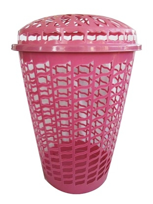 tall round laundry hamper pink dorm items college supplies necessary items wash. Black Bedroom Furniture Sets. Home Design Ideas