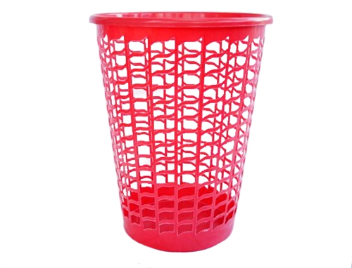 Tall Round Laundry Hamper Red Supplies For Wash Clothes