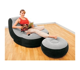 Cool And Comfortable - Ultimate Dorm Lounger & Foot Rest - College Dorm Room Furniture