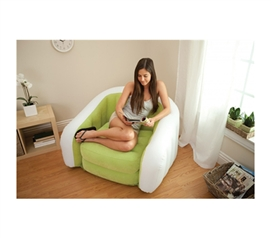Inflatable For Easy Storage - Retro Comfort College Chair - Inflatable College Furniture - Dorm Seating Is Needed