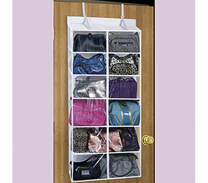 Over The Door Purse Organizer College Dorm Useful